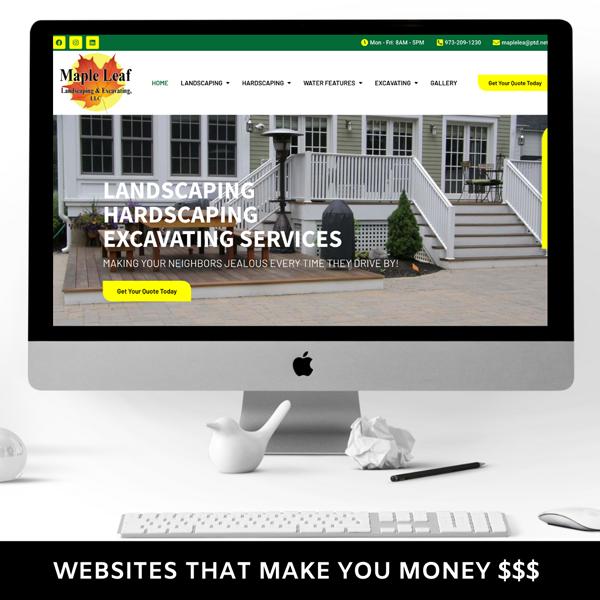 website designer nj landscaping web developer new jersey